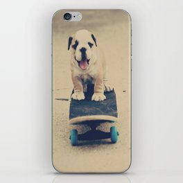 English Bulldog Rollin' iPhone Skin