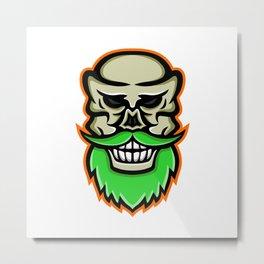 Bearded Skull or Cranium Mascot Metal Print