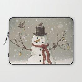 Christmas Snowman  Laptop Sleeve