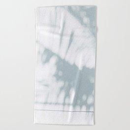 palm shadow Beach Towel