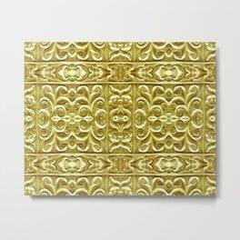Golden Plated Ornament Metal Print