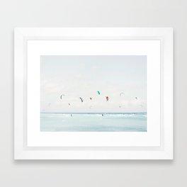 Kite Surfing Framed Art Print