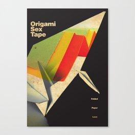Origami Sex Tape Canvas Print
