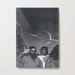 SPACE IS THE PLACE (Ras G meets Sun Ra) Metal Print