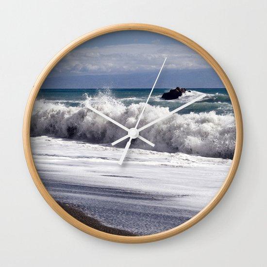 WAVES EASTCOAST SICILY Wall Clock