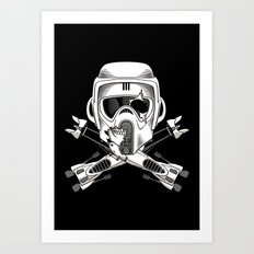Jolly Biker Art Print