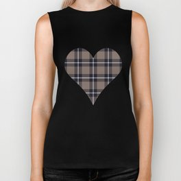 big dark weave monochrome Biker Tank