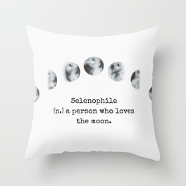 Selenophile Throw Pillow