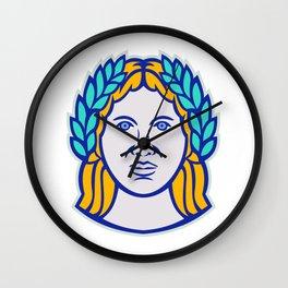 Ceres Roman Agricultural Deity Mascot Wall Clock