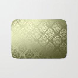 """Olive Damask Pattern"" Bath Mat"