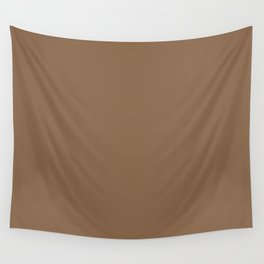 Sherwin Williams Trending Colors of 2019 Baked Cookie (Rich Warm Brown) SW 9098 Solid Color Wall Tapestry