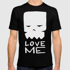 Inverted LOVE ME Mens Fitted Tee MEDIUM Black