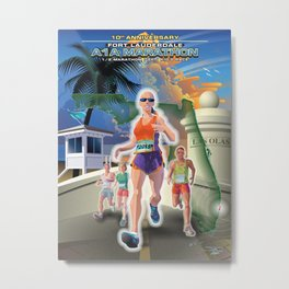 Fort Lauderdale A1A Marathon Metal Print