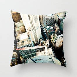 City From Above Throw Pillow