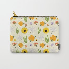 California Wildflower Pattern Carry-All Pouch