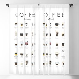 Coffee Chart - Mixed Drinks Blackout Curtain