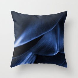 Succulent Leaf In Blue Color #decor #society6 #homedecor Throw Pillow