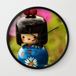 Kokeshi Love Wall Clock