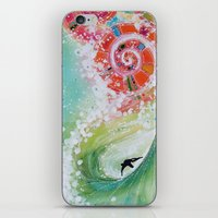 narnia iPhone & iPod Skins featuring Surf Wave Somewhere in Narnia by ArtSeriously