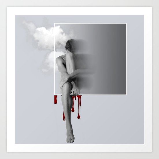 male nude art  Art Print