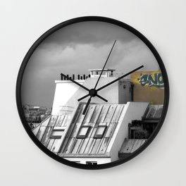 Rooftops of Paris Wall Clock