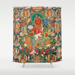 21 Taras Thangka Samantabhadra Varayogini Shower Curtain