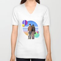 melissa smith V-neck T-shirts featuring Melissa & Ernie by MCDiBiase