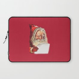 SANTA CLAUS READING A LETTER Laptop Sleeve