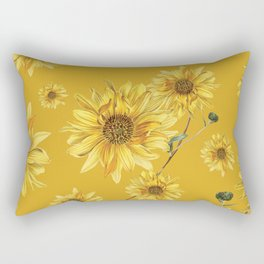 Sunflower Pattern 3 Rectangular Pillow
