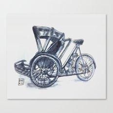 rickshaw bike Canvas Print