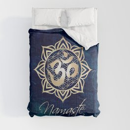 Namaste Lotus Flower of Life Mandala Comforters