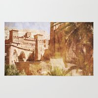 morocco Area & Throw Rugs featuring Village Morocco by ZenzPhotography