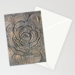 Novato Grey Tone Flower Painting Stationery Cards