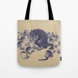 Owl's not had enough coffee (but made an effort though) Tote Bag