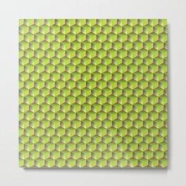 spring green cubes Metal Print