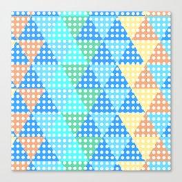 bright tesselation Canvas Print