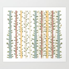 Birch magic wood Art Print