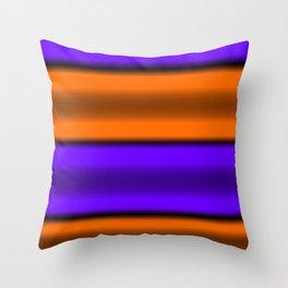 Orange & Purple Horizontal Stripes Throw Pillow