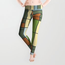 Frank lloyd wright pattern S01 Leggings