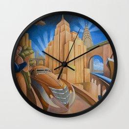 I Will Possess Your Heart - New York City Art Deco Landscape Wall Clock