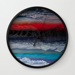 Alien terrain Wall Clock