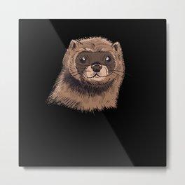 Mink Ferret Weasel Metal Print