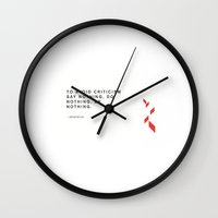 quotes Wall Clocks featuring Quotes  by Frida Design