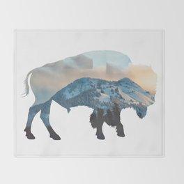Bison Mountain Throw Blanket