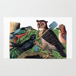 Vintage Owl with Shovel Rug