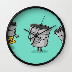 Kick the Bucket Wall Clock