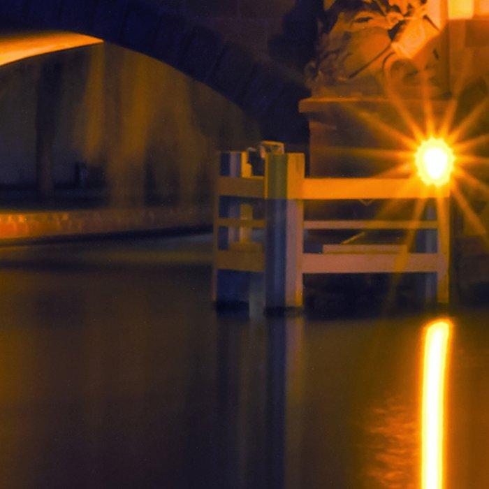 Nocturnal Lights on the river Spree in Berlin Leggings