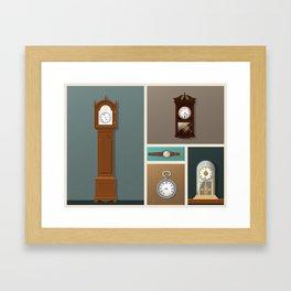 A Series of Vintage Clocks (Part one) Framed Art Print
