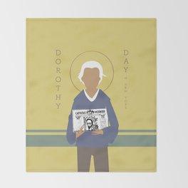Dorothy Day Throw Blanket