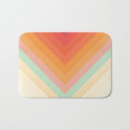 Rainbow Chevrons Bath Mat
